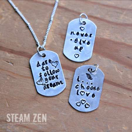Inspirational Quotes – Dog Tag Necklace