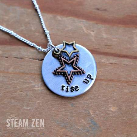 Hamilton Rise Up Star-Studded Charm Necklace