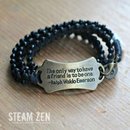 Ralph Emerson Friendship – Karma Wrap Bracelet